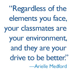quote: Regardless of the elements you face, your classmates are your environment, and they are your drive to be better