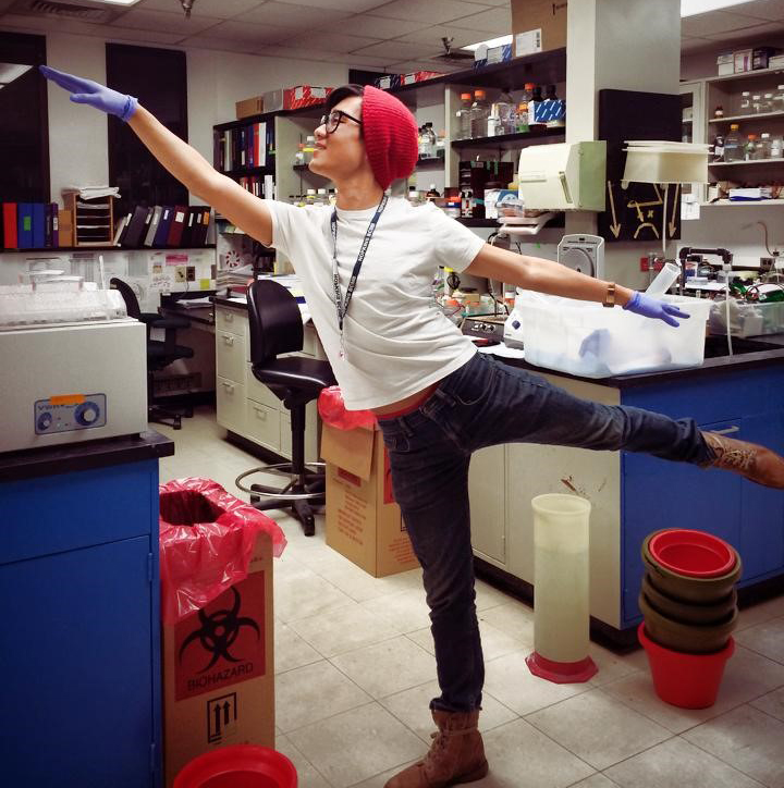 chris cho dancing in the lab