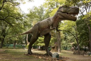 A T-Rex in the woods