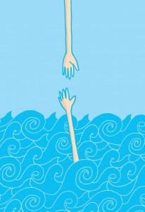drowning-man_iStock_000037742774_Illustration