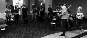 Members of B'More Funk plays at Second Look Weekend.