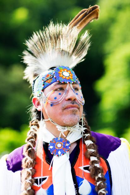 Harlan Pruden in native american dress