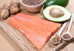 salmon, avocado, flax seed and other examples of fatty acids