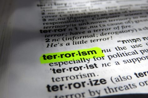 terrorism highlighted in a dictionary