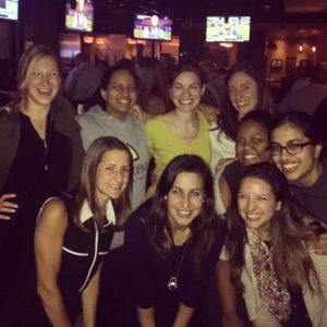 Diana Cholakian with her resident friends in the Johns Hopkins Department of Gynecology and Obstetrics