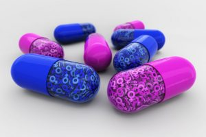 blue and pink pills
