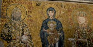 Ancient Christian art adorns the Hagia Sophia in Istanbul, a church that has occupied christian and muslims alike. Image courtesy Rabia Karani