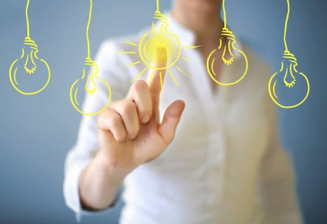 light bulbs symbolizing ideas
