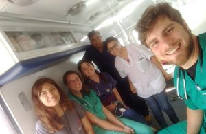 Our medical volunteering team inside the mobile clinic during my recent trip to Peru.