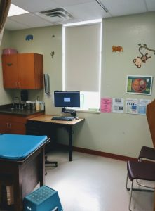 Exam Room at the Tuba City Regional Health Care Pediatric Clinic