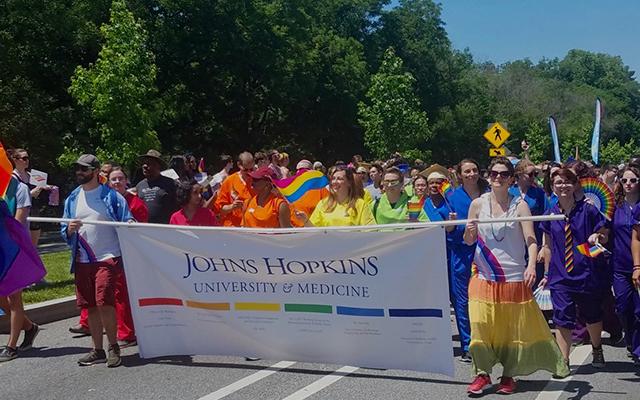 Hopkins pride parade