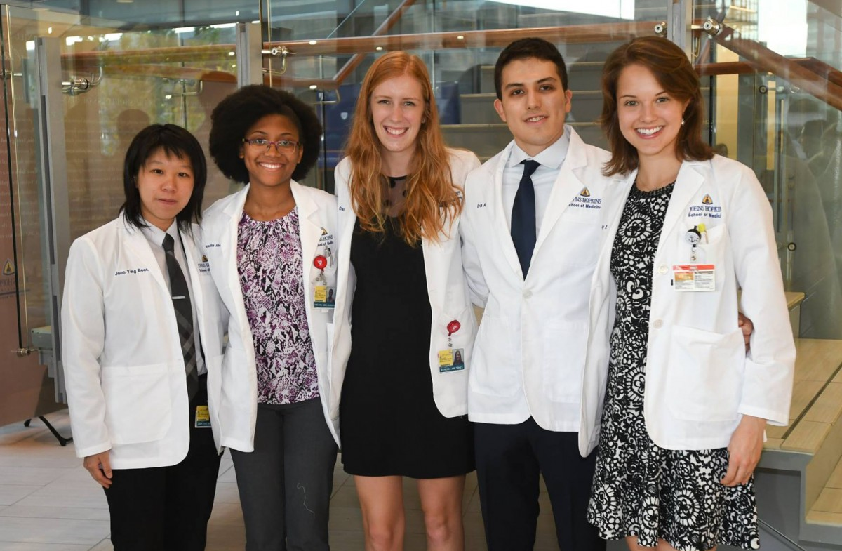 medical students at Johns Hopkins