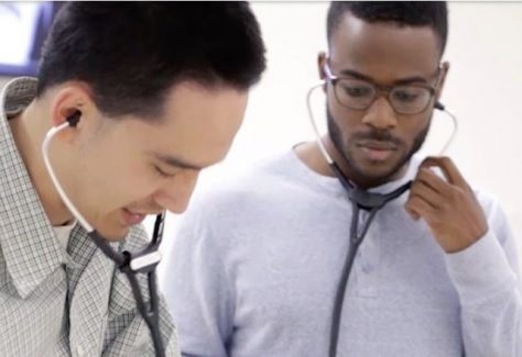 two men with stethoscopes