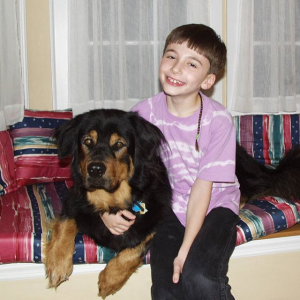 David Ottenheimer with his childhood dog, Bernie.