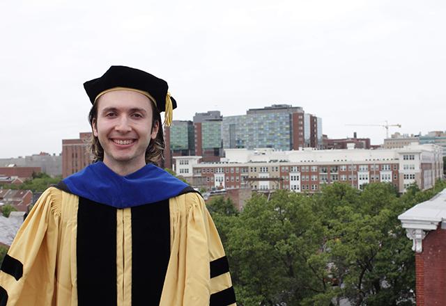 David in his graduation attire