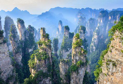 Landscape of Zhangjiajie.