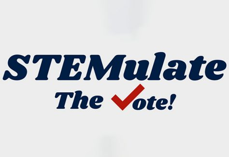 Logo that reads, STEMulate the Vote.