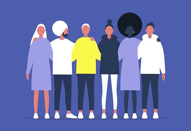 Illustration of diverse individuals